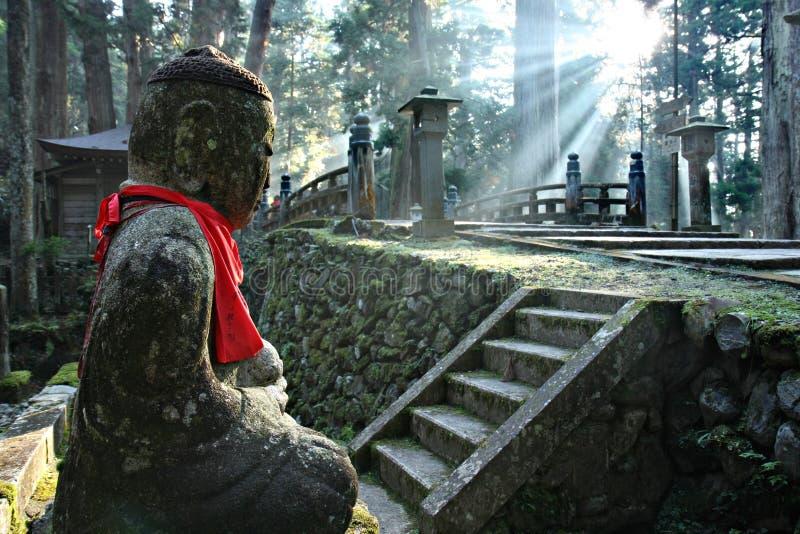 Okunoin Cemetery at Mount Koya. Japan royalty free stock image