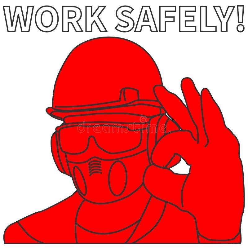 Okupacyjny bezpieczeństwo i zdrowie ikony ustawiający znaki i royalty ilustracja