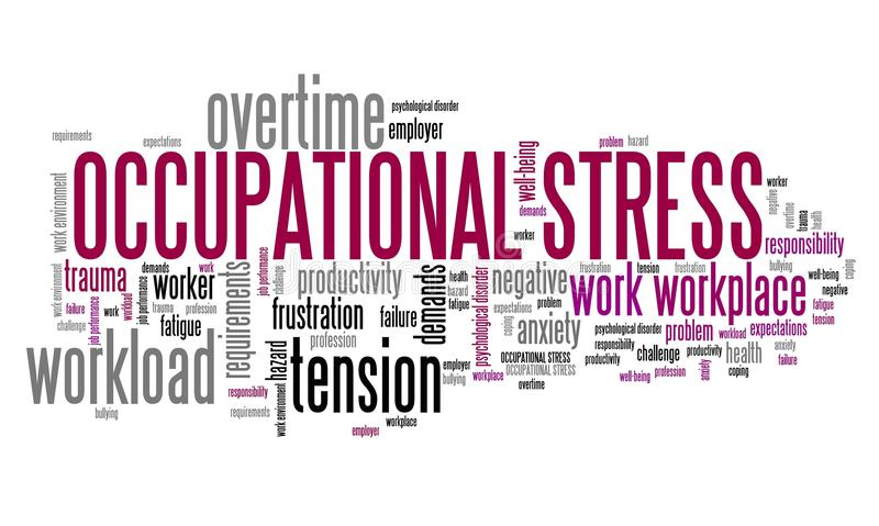 Okupacyjny stres ilustracji