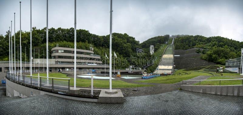 Okurayama跃迁滑雪体育场,札幌,日本 免版税图库摄影