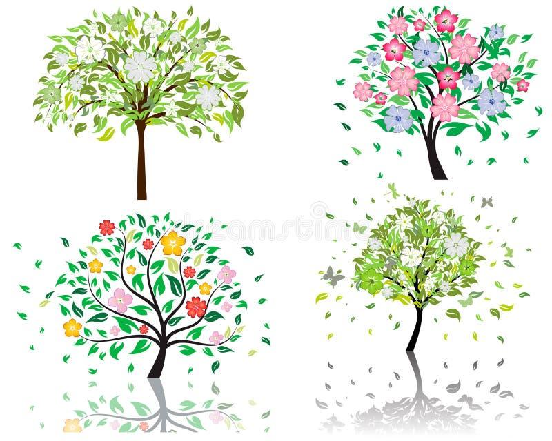 okwitnięcia drzewo royalty ilustracja