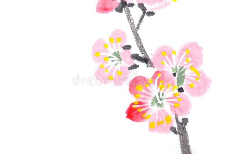 okwitnięcie chińczyk kwitnie obraz śliwki ilustracji