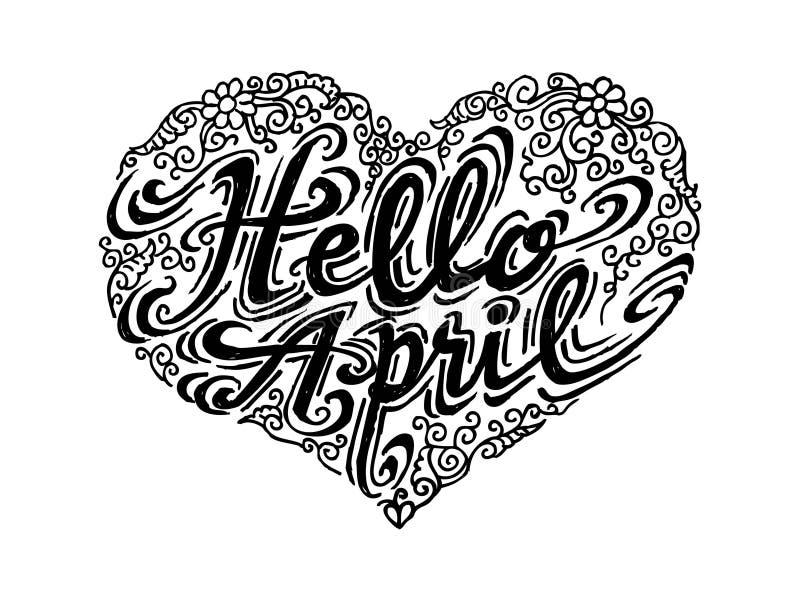 Olá! abril imagens de stock