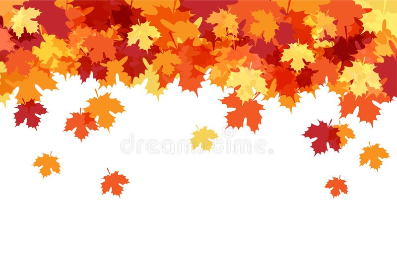 Olá! Autumn Beautiful Decorative Background ilustração stock