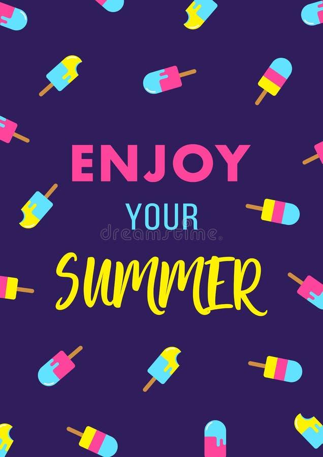 Olá! cartaz da melancia da venda da oferta especial do verão ilustração royalty free