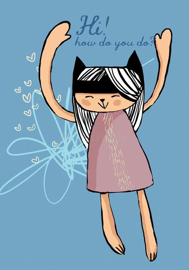 Olá!! como você faz? ilustração do vetor