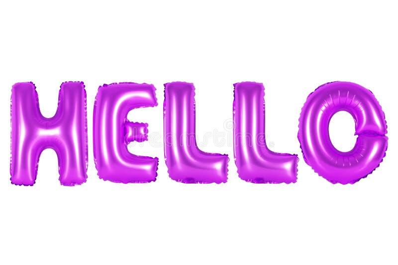 Olá!, cor roxa foto de stock royalty free