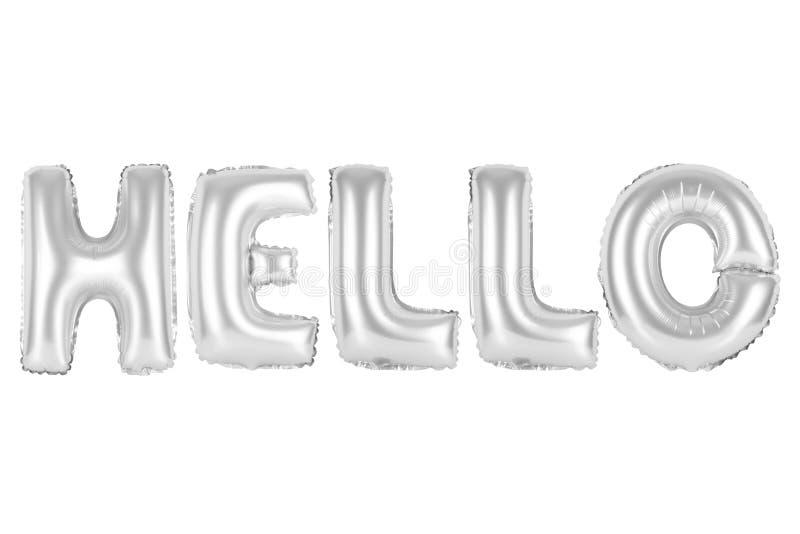 Olá!, crome a cor cinzenta fotos de stock