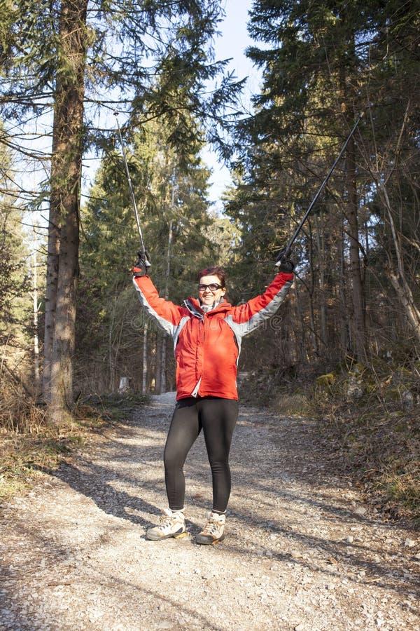 Olá! de ondulação da mulher Sportive fora imagem de stock royalty free