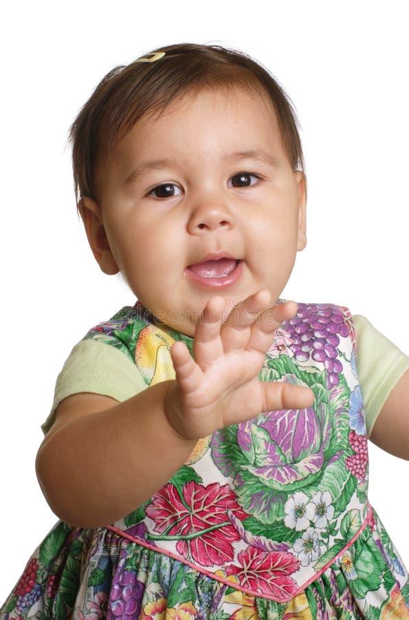 Olá! de ondulação do bebé imagens de stock