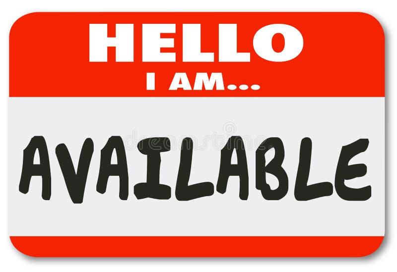 Olá! eu sou conveniência acessível Ser da etiqueta disponível da etiqueta do nome ilustração do vetor