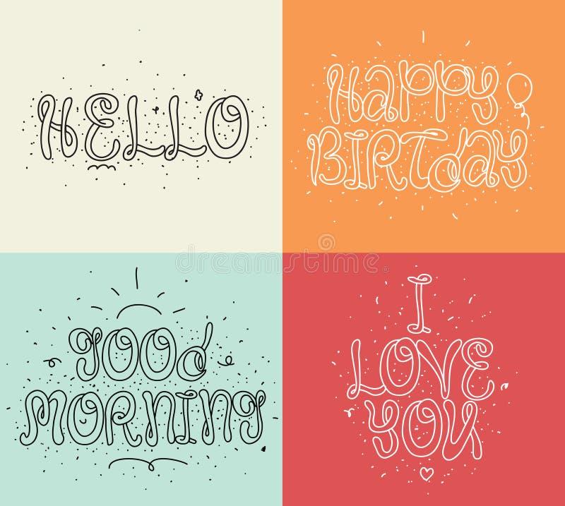 Suficiente Olá!, Feliz Aniversario, Eu Te Amo, Bom Dia Grupo De Caligrafia  AU45