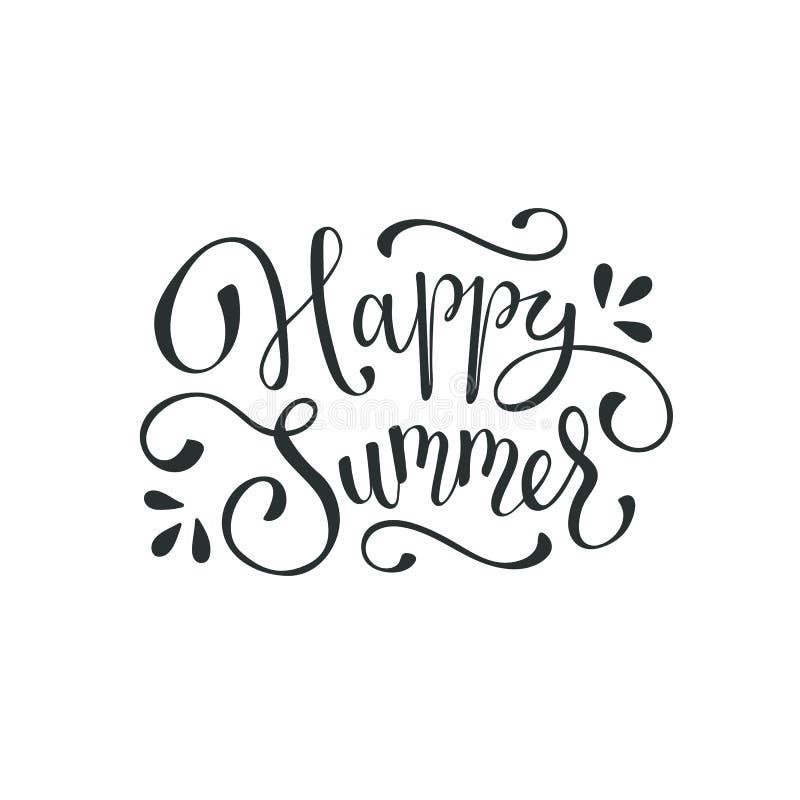 Olá! fraseio do verão ilustração do vetor