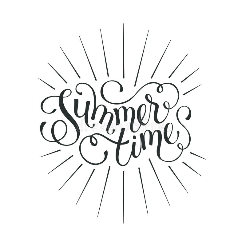 Olá! fraseio do verão ilustração stock