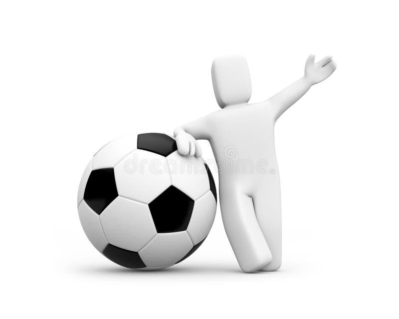 Olá! futebol. O EURO 2008 está vindo. ilustração royalty free