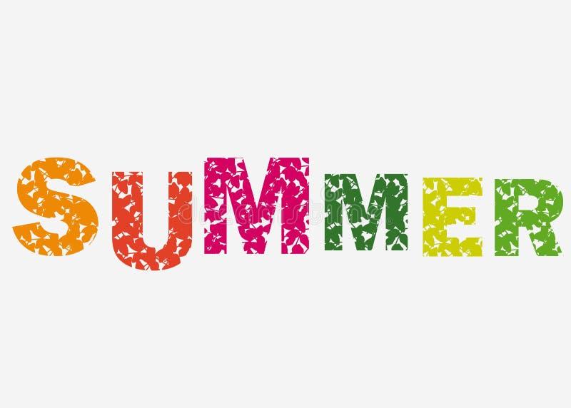 Olá! ilustração do verão, fundo Logotipo ou etiqueta do projeto do moderno das citações do divertimento cartaz inspirado da tipog ilustração stock