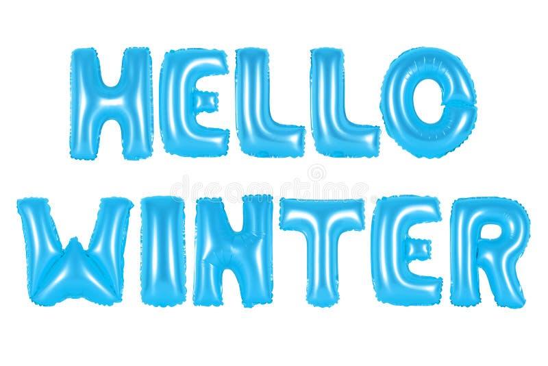 Olá! inverno, cor azul fotos de stock