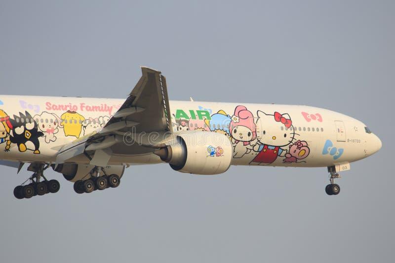 Olá! Kitty EVA Airliners imagens de stock