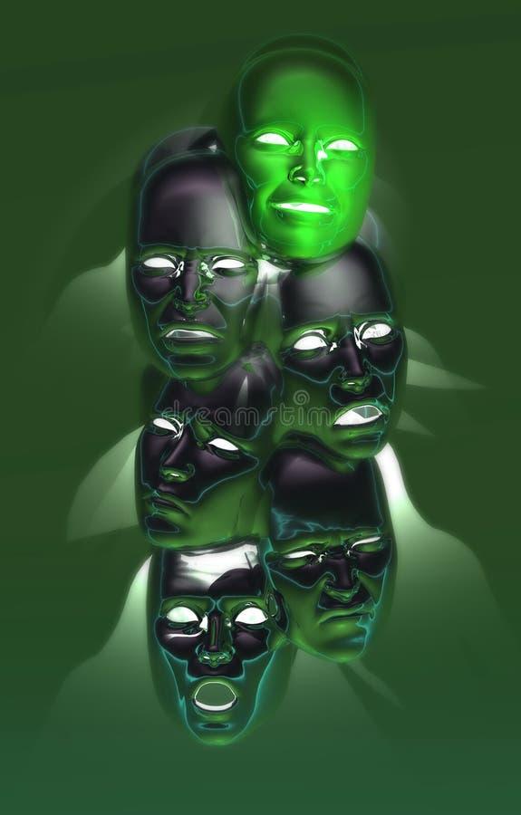 Olá! máscaras do detalhe ilustração royalty free
