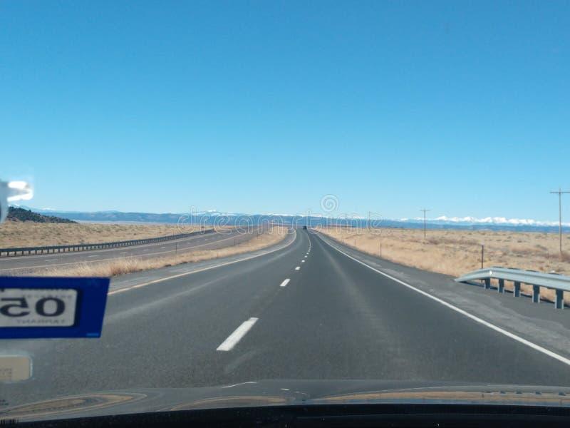 Olá! maneira de Texas a Colorado fotografia de stock