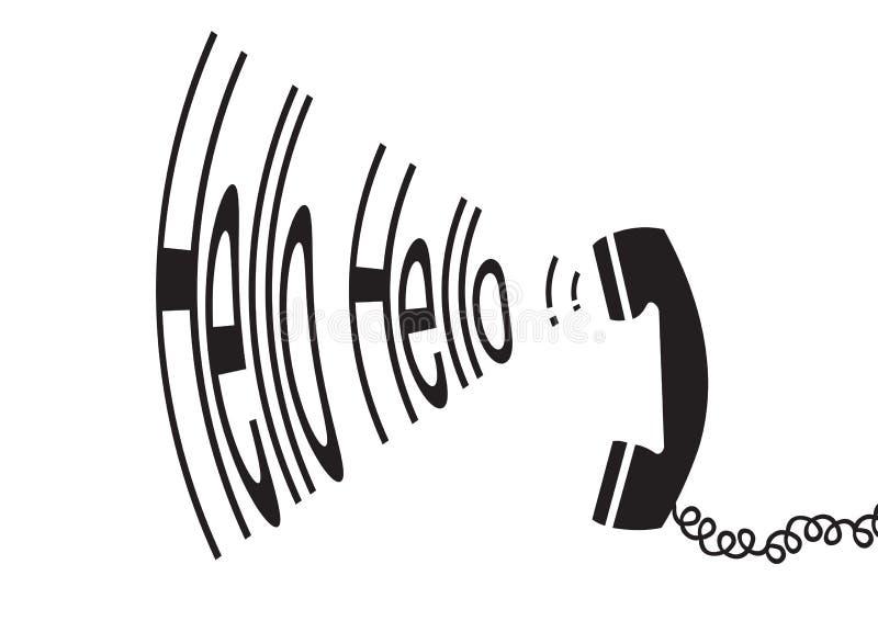 Olá! olá! - vetor ilustração royalty free