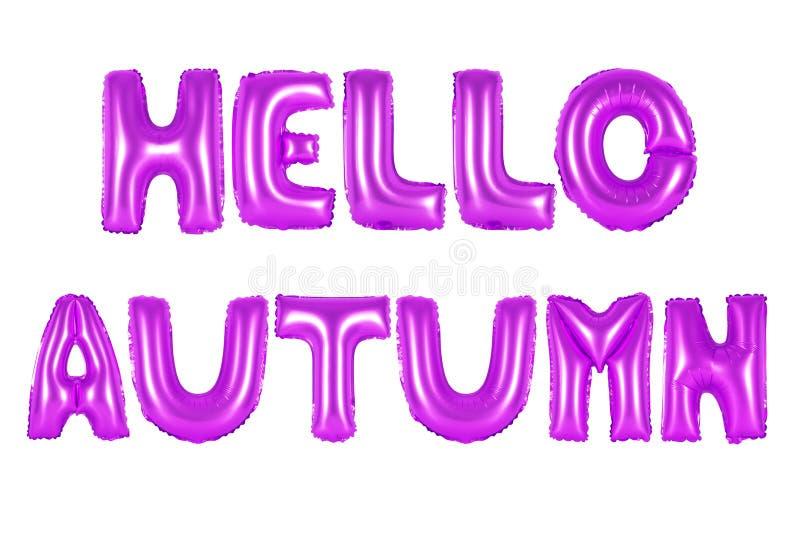 Olá! outono, cor roxa fotografia de stock