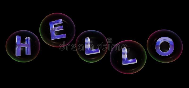 Olá! a palavra na bolha ilustração stock