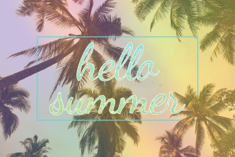 Olá! partido das horas de verão para o fundo foto de stock