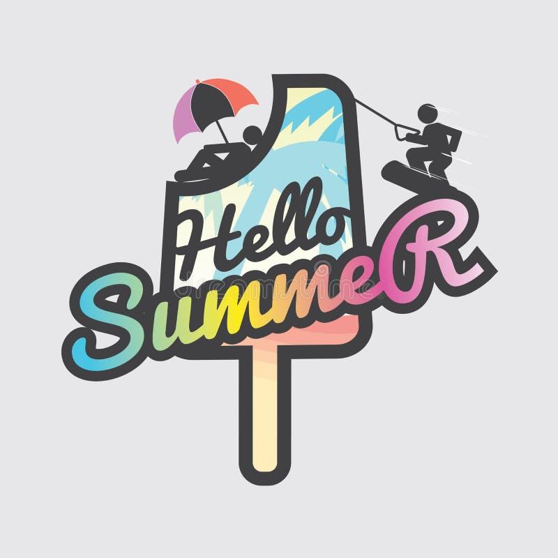 Olá! picolé do verão ilustração royalty free
