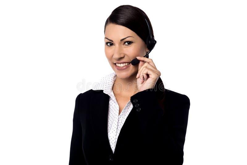 Olá!! Posso eu ajudá-lo? fotos de stock royalty free