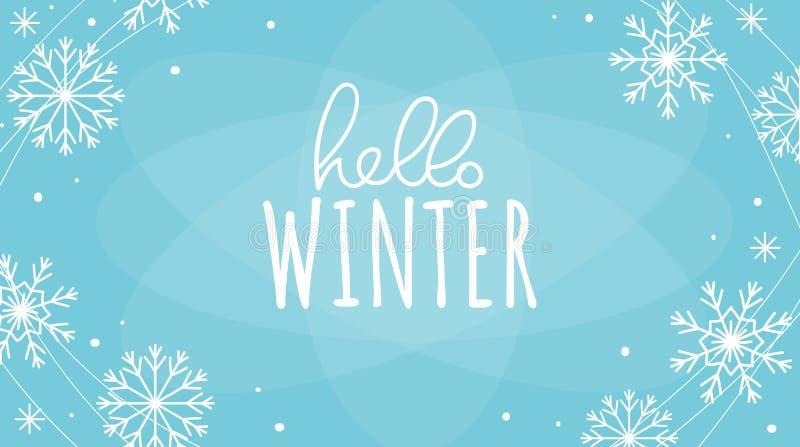 Olá! projeto de cartão do inverno imagem de stock royalty free
