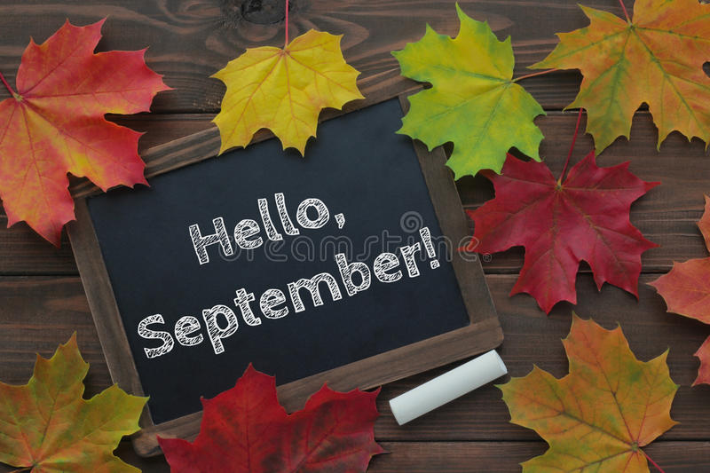 Olá!, setembro! foto de stock