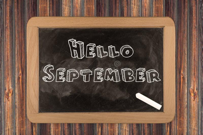 Olá! setembro - quadro imagem de stock royalty free