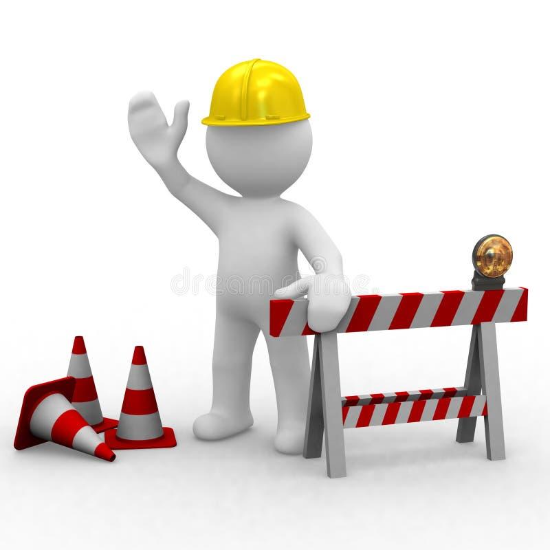 Olá!, sob a construção ilustração stock