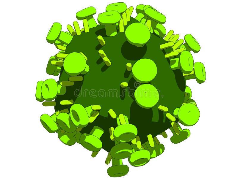 Olá! vírus ilustração stock