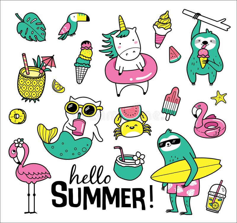 Olá! verão ilustração stock