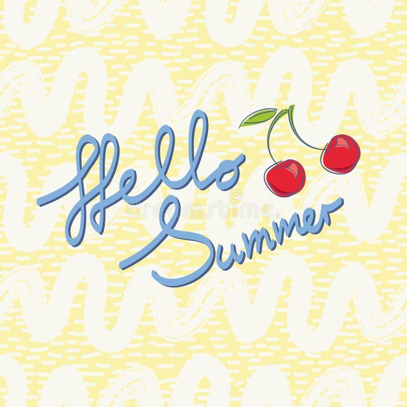 Olá! verão, molde para o projeto do verão ilustração do vetor