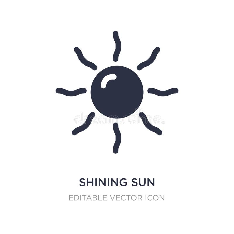 olśniewający słońce z promień ikoną na białym tle Prosta element ilustracja od natury pojęcia ilustracji