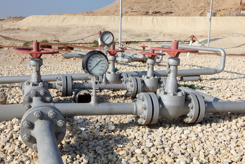 Oléoduc au Bahrain photos libres de droits