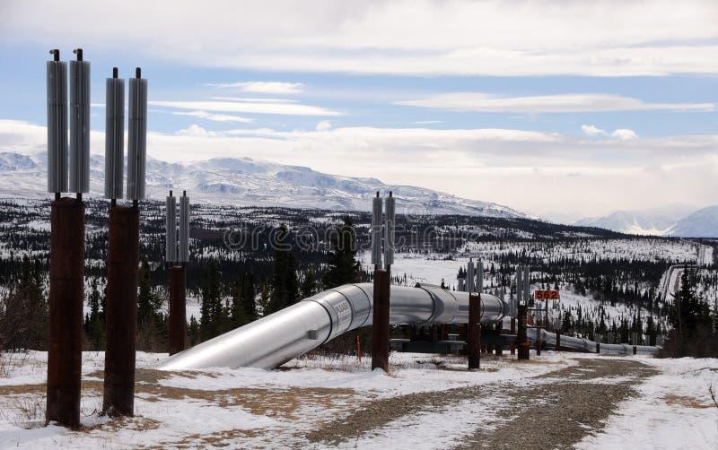 Oléoduc de l'Alaska écrivant le passage Isabel photo stock