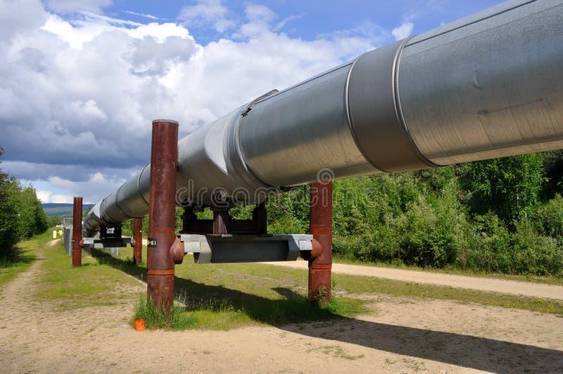 Oléoduc de transport Alaska images libres de droits