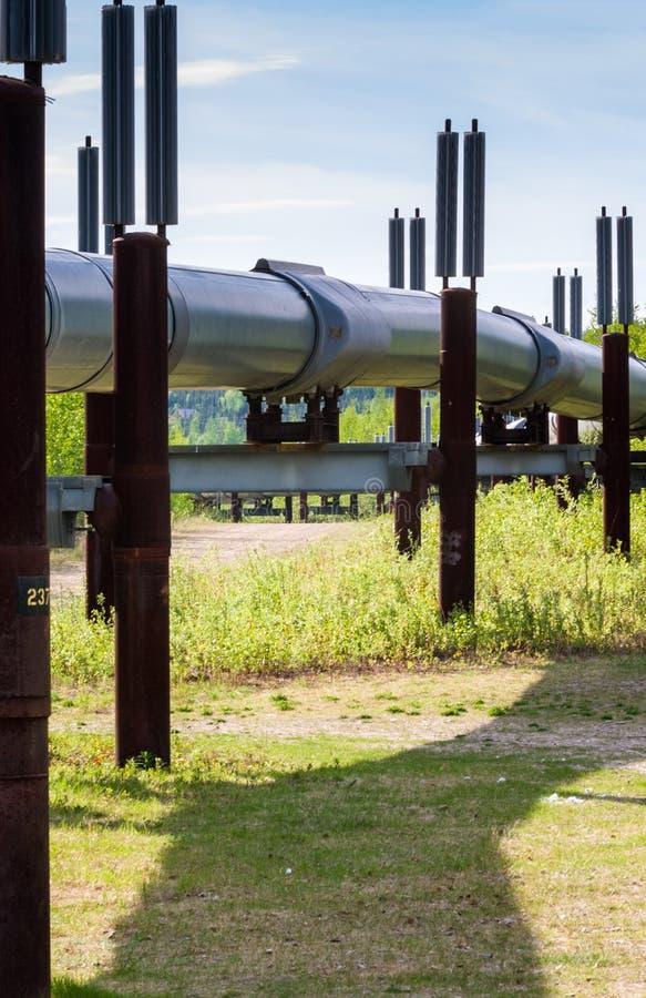Oléoduc de transport Alaska photographie stock libre de droits