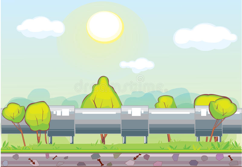 Oléoduc de transport de canalisation illustration de vecteur