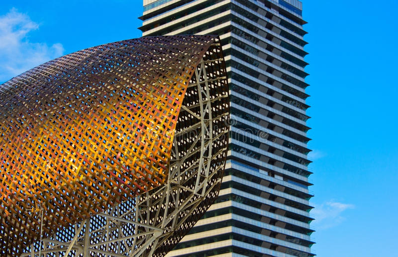 Olímpico portuario, Barcelona, España imágenes de archivo libres de regalías