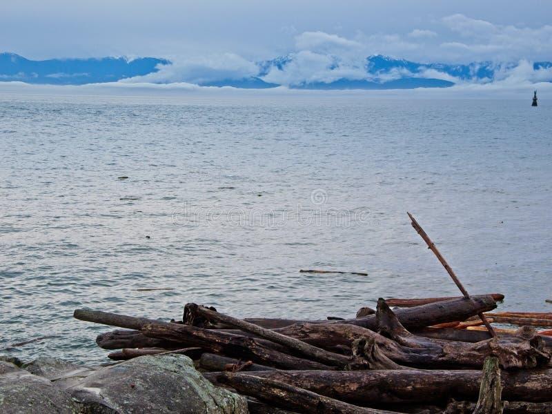 Olímpicos Mountain View de Ogden Point foto de stock royalty free