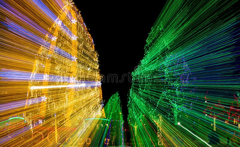 Olśniewać bożonarodzeniowe światła fotografia stock