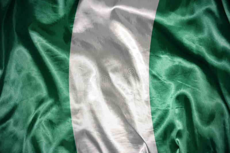 olśniewająca nigeryjska flaga obrazy royalty free