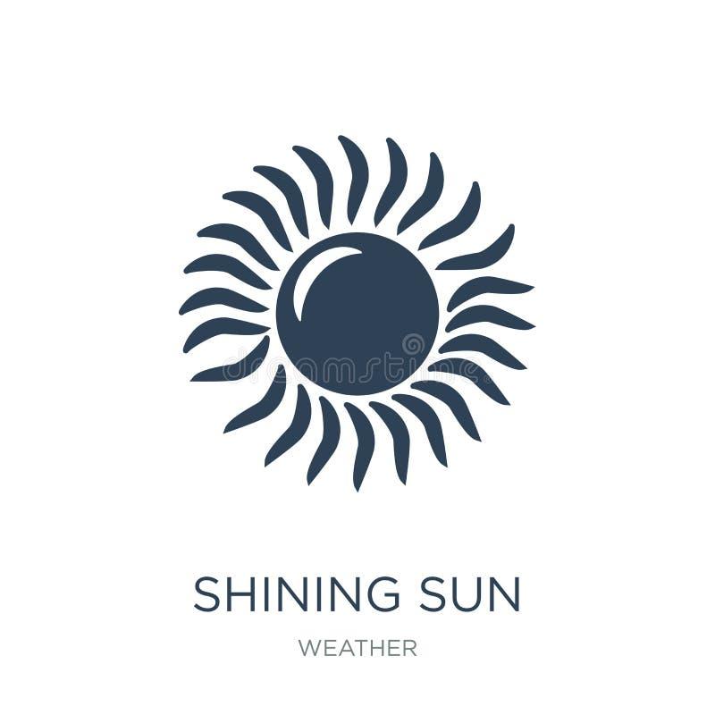 olśniewająca słońce ikona w modnym projekta stylu olśniewająca słońce ikona odizolowywająca na białym tle olśniewającego słońca w ilustracji