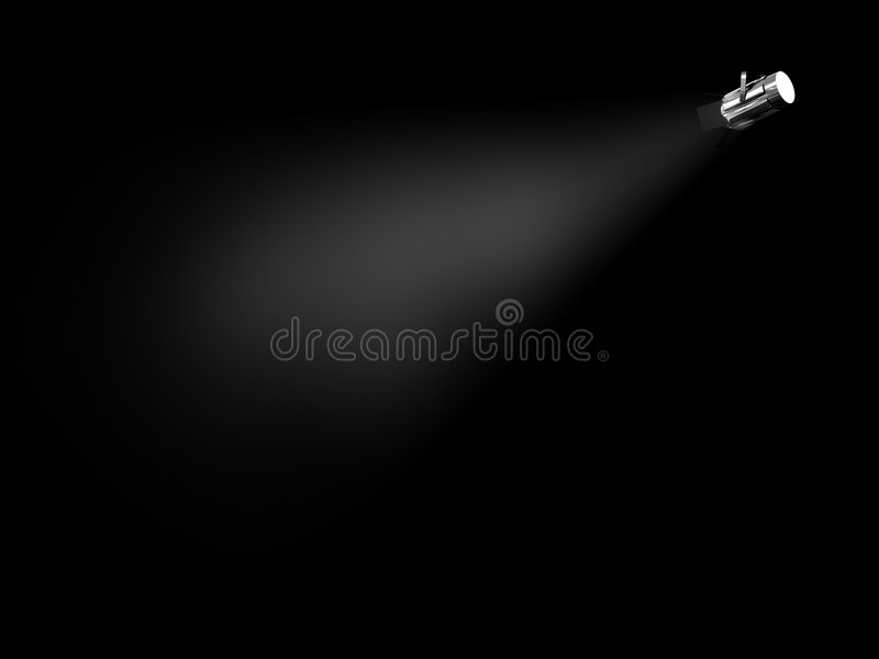 olśniewający światło reflektorów ilustracji