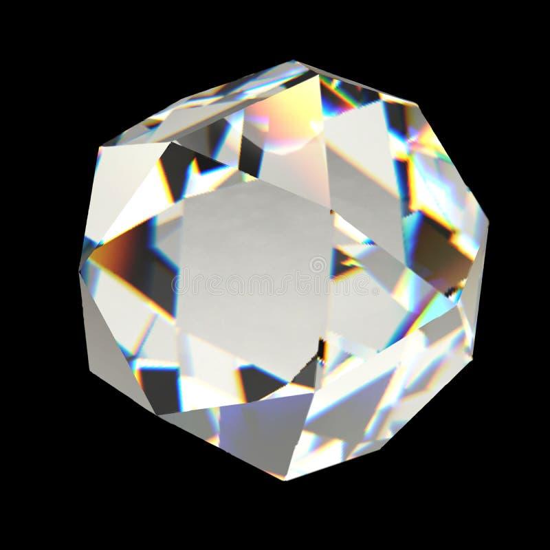 Olśniewający diament na czarnego tła siatki Dużym wektorze ilustracji